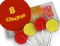 Saqueta 8 Chupas Limão/Cereja, 48 g - 0000002576